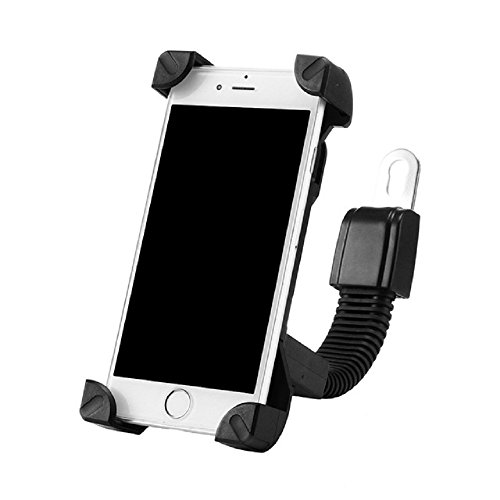 Efanr Universal Motorcyle / Scooter / Electric Car / Tricycle Rearview Mirror Mount Stand Holder, Adjustable 360 Degrees Rotate, Compatible With 4 to 7.5 Inches of Mobile Cell Phone (Black)