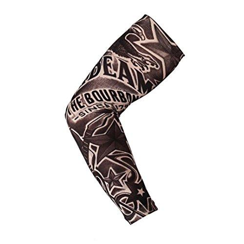 HANYI Nylon Elastic Tattoo Arm Stockings, Fashion Temporary Tattoo Sleeve Designs Body Arm Stockings Tatoo Cool (I)
