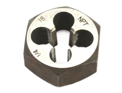 Forney 21143 Pipe Die Industrial Pro Hex Re-Threading Carbon Steel, Right Hand, 1/4-Inch-by-18 - Steel Hex Carbon Die