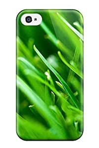 Renee Jo Pinson's Shop Best popular New Fresh Green Grass Leaves For Apple Iphone 4/4S Case Cover With Perfect Design