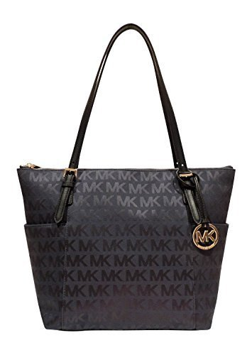 Michael Kors Signature East West Top Zip Tote Beige