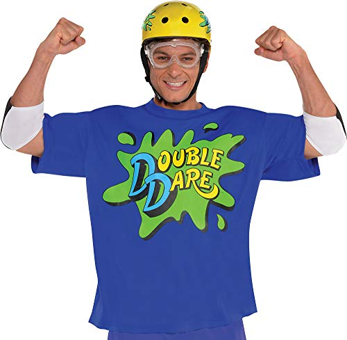 amscan Nickelodeon Blue Double Dare Halloween Costume Accessory Kit for Adults, One (Family Double Dare Costume)