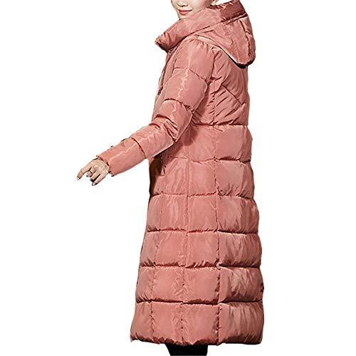 Inverno Casual Cotone Slim Brown Giacca Di Spessore Lungo Loozo Moda Hooded Signore dSqtxgwnp