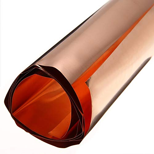 1pc 99.9% High Purity Pure Copper Sheet Mayitr Cu Metal Foil Plate 0.1x200x1000mm by TOLOVI