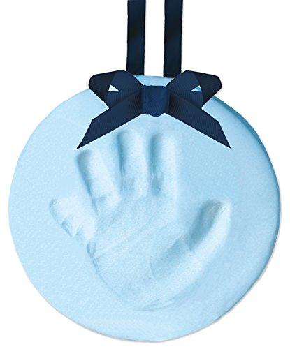Blue Footprints Italian - Tiny Ideas DIY Babyprints Handprint or Footprint Keepsake Ornament with Ribbon, Blue