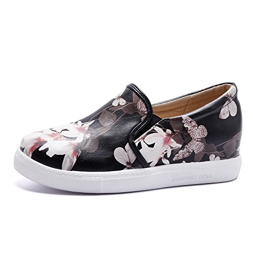 On Heels Color Pu WeiPoot Closed Round Pull Women's Shoes Toe Pumps Black Assorted Low vwXxUq