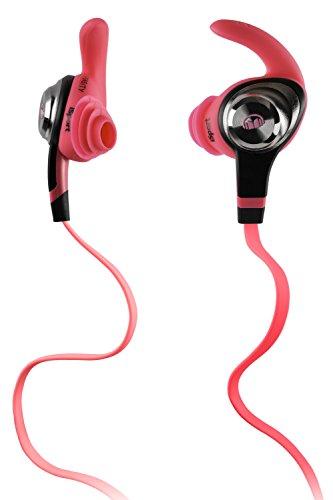 Monster iSport Intensity In-Ear Sport Headphones, Neon Pink,