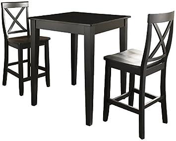 Amazon.com: Crosley Furniture 3-Piece Pub Set with Tapered Leg ...