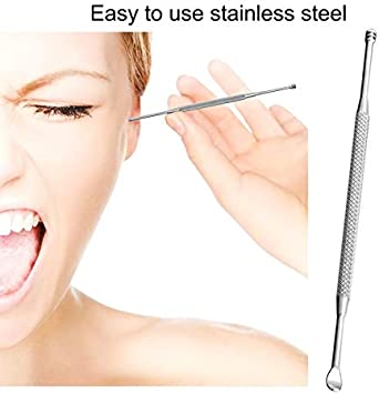 ouying1418 Stainless Steel Earpick Ear Cleaning Tools Ear Care Ears Safety Earpick