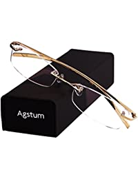 Pure Titanium Rimless Glasses Prescription Eyeglasses Rx