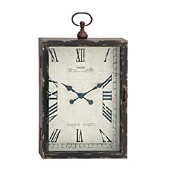 Benzara The Ravishing Wood Metal Wall Clock