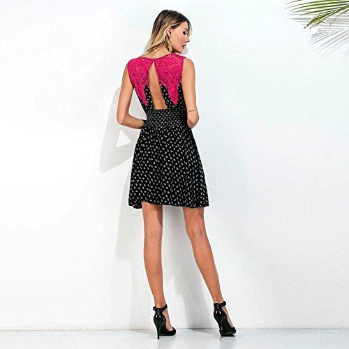 Kleid Oyedens Damen Neue Art Modernes Sleeveless Spitze Mini Kleid