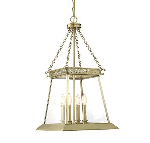 - Savoy House Norwich 4-Light Foyer in Warm Brass Lustre 3-941-4-63