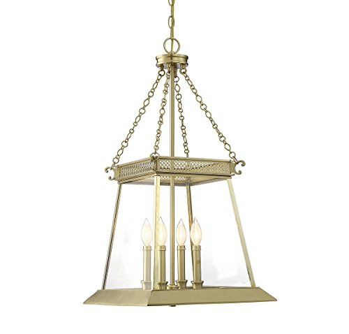 Lustre Brass Finish - Savoy House Norwich 4-Light Foyer in Warm Brass Lustre 3-941-4-63