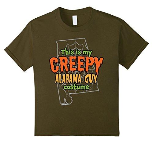 Kids Creepy Alabama Guy Funny Halloween Costume T-shirt 8 (Guy And Girl Matching Halloween Costumes)