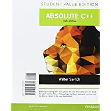 Absolute C++, Student Value Edition Plus MyProgrammingLab with Pearson eText -- Access Card Package (6th Edition) by Walter Savitch (2015-07-26)