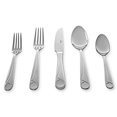 Culina Capri 20pcs Flatware for 4, 18/10 Stainless Steel Silverware Mirror Finish