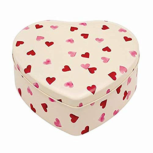 Emma Bridgewater Pink Hearts Large Heart Shaped Biscuit Tin/Container