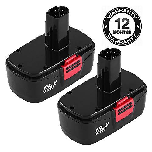 Replace Craftsman 19.2 Volt Battery for Craftsman Diehard C3 3.6Ah Battery 11375 130279003 130279005 130279017 1323517 1323903 Cordless Power Tool Batteries 2 Pack