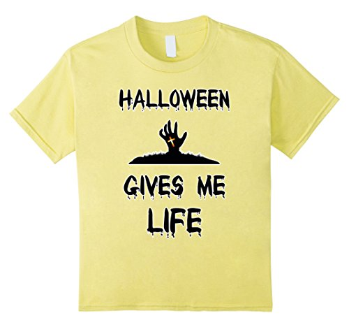 Kids Scary Halloween Gives Me Life Funny Horror Tee Shirts 8 Lemon