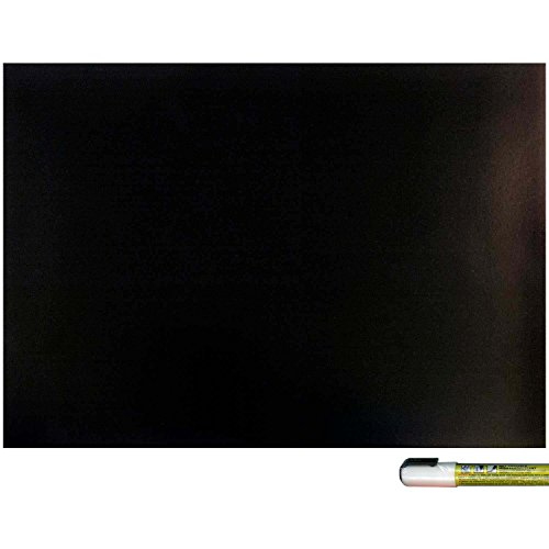 Cohas Magnetic Backed Board includes Liquid Chalk Marker, 12 by 16 Inches, Blackboard with White Marker (Lettering Chisel)