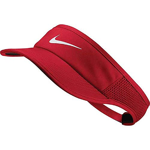 Nike Women's Fit Feather Light Adjustable Visor - University Red