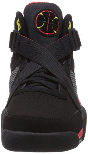 Nike Lunar Raid 654480 Herren Basketballschuhe Schwarz (chllng Rd / Chllng Rd-blck-tr Yl)