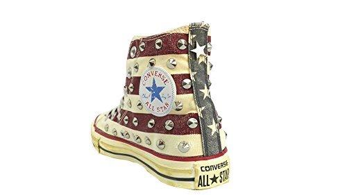Converse all star Borchie borchiate hi bandiera americana distressed ( prodotto artigianale )