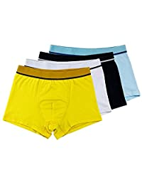 Little Boys Organic Cotton Boxer Brief Assorted Underwear with Elastic Waistband