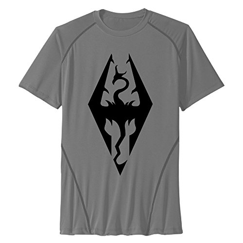 Price comparison product image Men's Tops Cool Awesome Game The Elder Scrolls V Skyrim Round Neck Athletic T-Shirts Quick Dry Sport T-Shirt