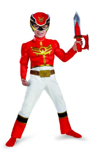 Disguise Power Rangers Megaforce Red Ranger Muscle Costume, (Red Power Ranger Megaforce Costume)