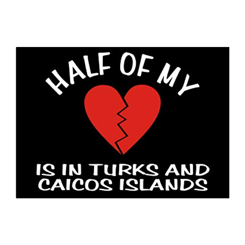Teeburon Half of My Big Heart is in Turks and Caicos Islands Sticker Pack x4 6