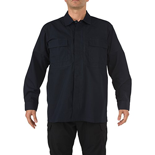 5.11 Tactical Ripstop TDU Long-Sleeve Shirt,Dark Navy,X-Large - Operations Body Armor Special