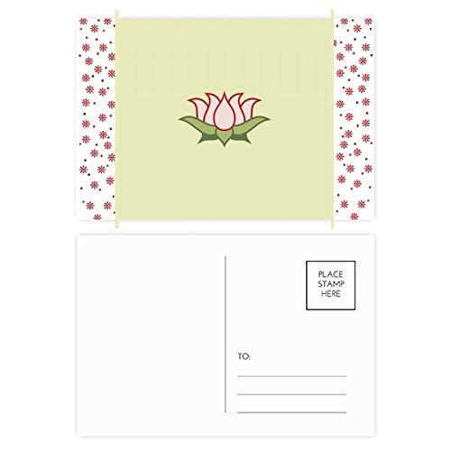 Lotus Buddhism China Pattern Christmas Flower Postcard Thanks Card Mailing 20pcs