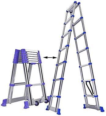 はしご伸縮性のある、厚いアルミニウム合金の折り畳み式の延長はしご建築建設のためのはしご200kg / 440.9ポンド以上の延長はしご