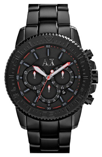 Armani Exchange Black Bezel Chronograph Watch