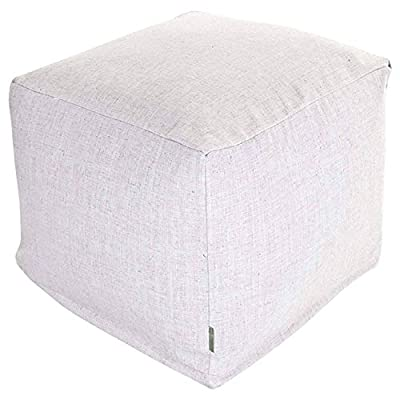 Majestic Home Goods Wales Indoor Ottoman Pouf Cube