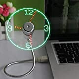ONXE LED USB Clock Fan with Real Time Display
