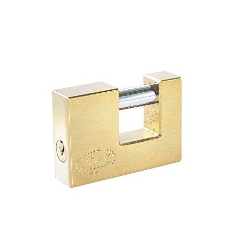 Lock L22C80ELBB Candado de Acero para Cortina Llave Estándar Latón Brillante, 80 mm