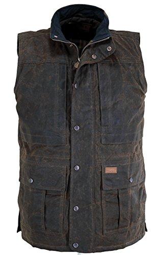 Outback Trading Company Deer Hunter Oilskin Vest, Bronze, - Bnz Leather