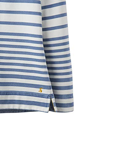 Stripe Cuello Alto 19 S Sudadera Saltwash s Bolsillos Joules Blue Mujer Con Sauntonsalt IwSxqp7Xf