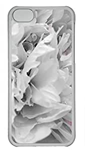 Shell Case for iphone 5C with Peony DIY Fashion PC Transparent Hard Skin Case for iphone 5C