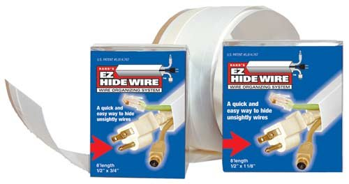 """ELECTRIDUCT, EZ HideWire Wire Duct Raceway, Material: Micro-Hinged Polymer, Dimensions: .5""""H x 1.125""""W x 120""""L, Color: White, Qty: 1 Roll"""