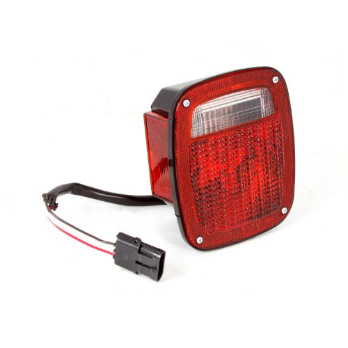 Omix-Ada 12403.47 Left Hand Tail Light with Black Housing for Jeep Wrangler TJ