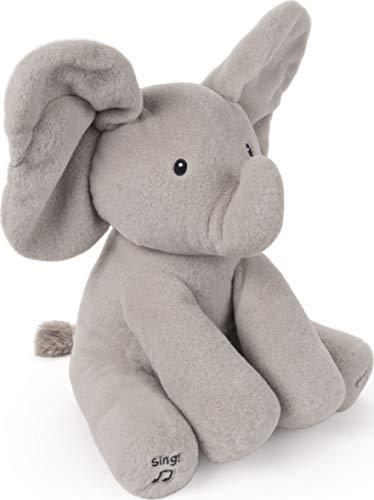 Baby GUND Animated Flappy The Elephant Stuffed Animal Baby Toy Plush, Gray, 12″