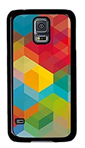 Samsung Galaxy S5 Patterns Squared PC Custom Samsung Galaxy S5 Case Cover Black