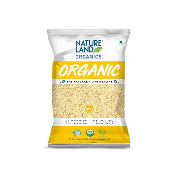 Natureland Organics Maize Flour (Makki Atta, Corn Flour) 500 Gm