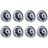 Unime 165314 Dishwasher Lower Rack Wheel Replacement fit Bosch Neff Siemens & Kenmore AP2802428 PS3439123-Pack 8