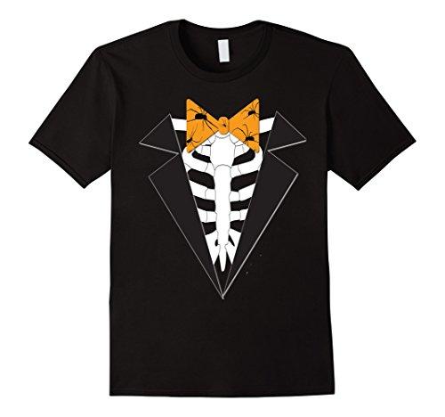 do Skeleton Bowtie Funny Costume T-Shirt Small Black ()