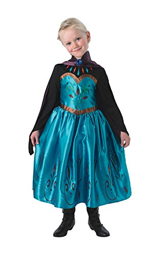 Frozen Disney Princess Elsa Coronation Fancy Dress Girls Costume Party New (Small: Age 3-4 Years)